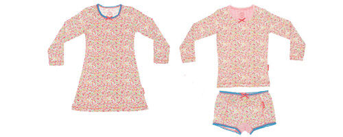 Claesen's Girls Flower sleepwear available from Where Did You Get That?