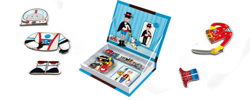 Janod Magnetic Boy Dressing Up Box available from Mini Men