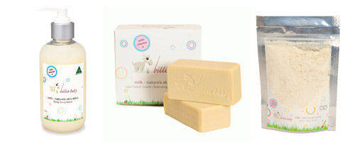 Billie Goat Soap 'Billie Baby' range available from Cookies & Cream