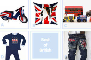 Union Jack inspired kids clothes