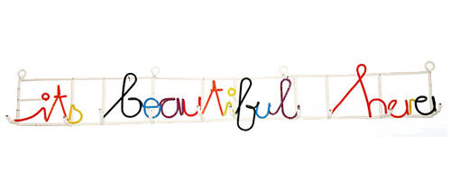 Heath Nash 'It's Beautiful Here' coat rack from iKHaYa