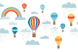 Tinyme Hot Air Balloon Decals