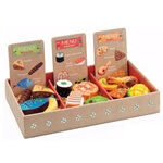 Djeco Restaurant Men Cards and Food set from Toddler Town