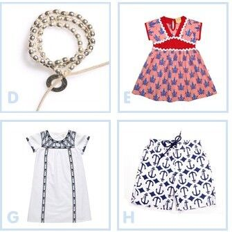 Nautical but nice - Bebe, Willow & Finn, Little Horn, Alfie and Nina, x &y