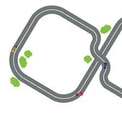 Racing track wall stickers from Stylish Bubs