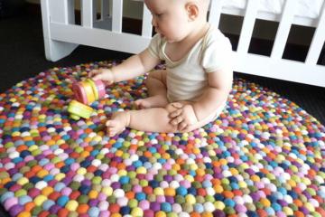 Happy As Larry Felt Ball rugs