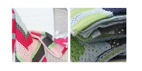And The Little Dog Laughed crochet blankets from Molly & Me