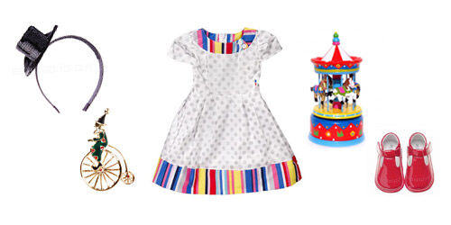 Roll up, roll up - carnival themed girls' outfit