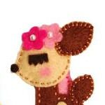 Felt hair clips available from BOWtique