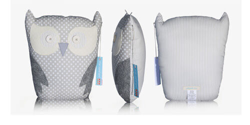 Jolie Petite Chose limited edition grey owl cushion
