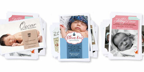 Personalised birth announcements by helloBABY Designs