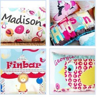 Tiges & Weince personalised cushions
