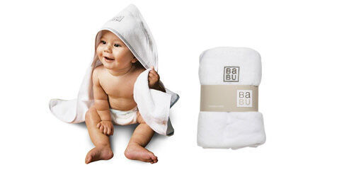 Babu velour hooded baby towel