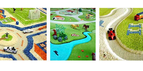 IVI Interactive 3D play rugs