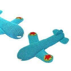 Rambler crocheted aeroplane rattle