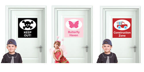 Removal door sign decals from BoscoBear