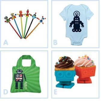 Robot themed accessories for kids