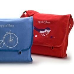 Apple & Bee reversible kids' satchels