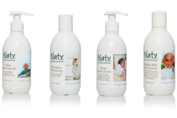 Naty babycare bath lotions