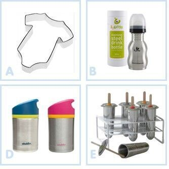 Stainless steel baby and toddler accessories
