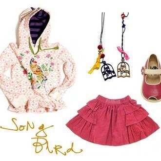 Girl's 'Song Bird' themed outfit