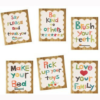 'Good Manners' wall cards