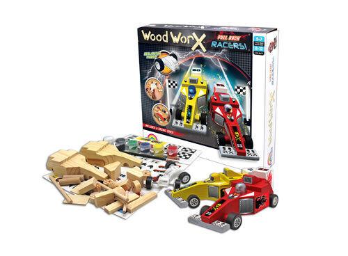 WoodWorx Pull Back Racers - DIY kit