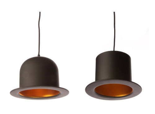 Jake Phipps replica top hat and bowler pendant lights