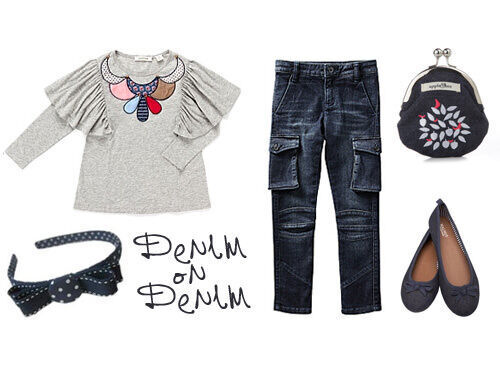 Jeans for Genes Day 2011 - girls denim outfit