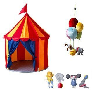 New circus themed toys at Ikea