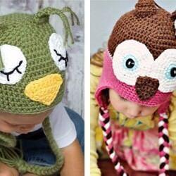 Happy Hooks hand crochet animal beanies