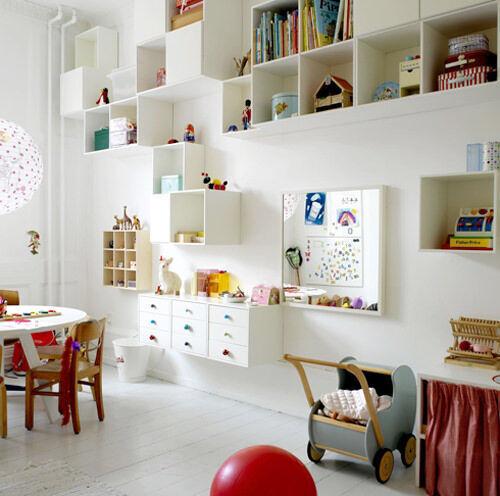 Inspiring playrooms - wall storage