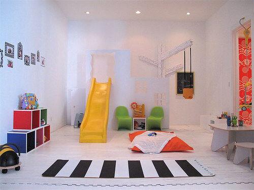 Inspiring playrooms - indoor slide
