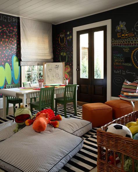 Inspiring playrooms - chalkboard wall