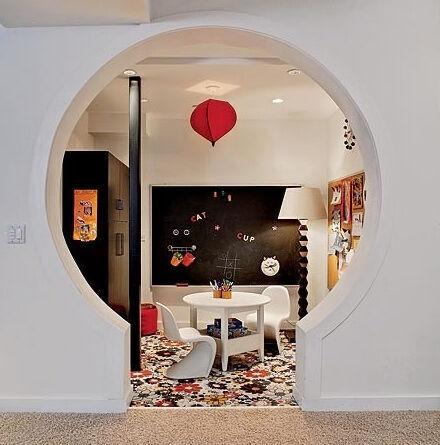 Inspiring playrooms - keyhole door