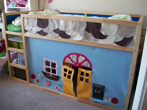 Ikea hack: bunk bed play house