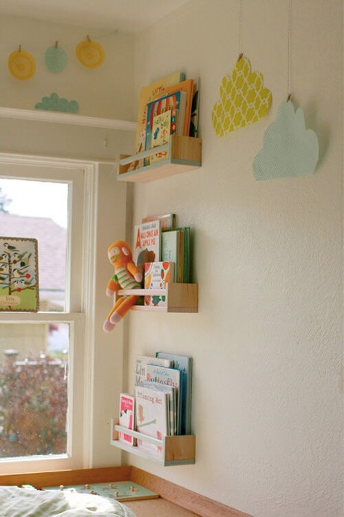 Ikea hack: spice rack bookshelves