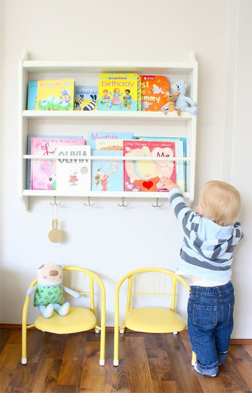 Ikea hack: children's book shelf
