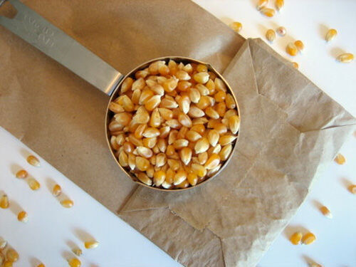 Clever idea: microwave your own popcorn in a plain paper bag