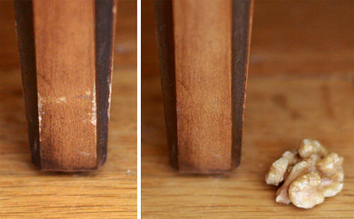 Clever ideas: use a walnut to heal furniture scratches