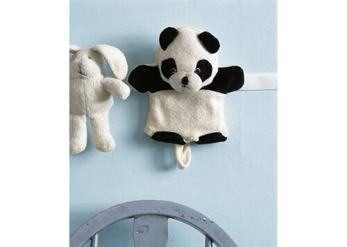 Clever ideas: velcro strip on wall to hold soft toys