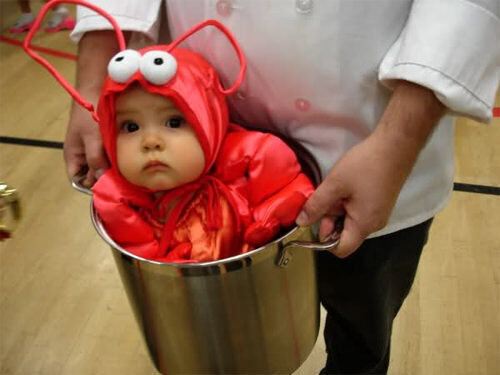 Kids' costumes: lobster