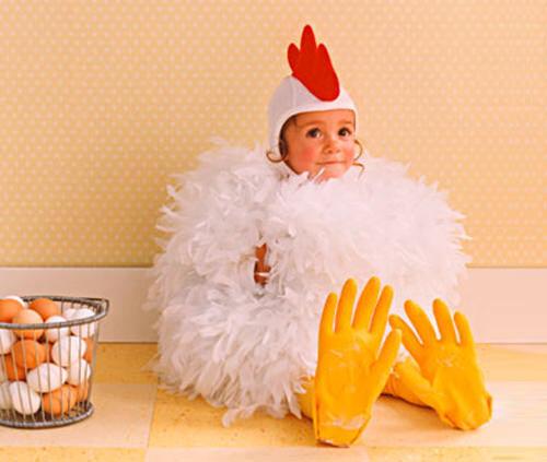 Kids' costumes: chicken
