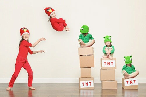Kids' costumes: Angry Birds