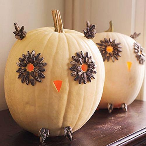 Halloween crafts: pumpkin owl