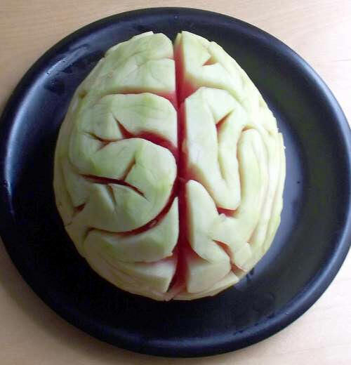 Halloween treats: watermelon brain