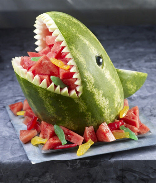 Kids food: watermelon shark