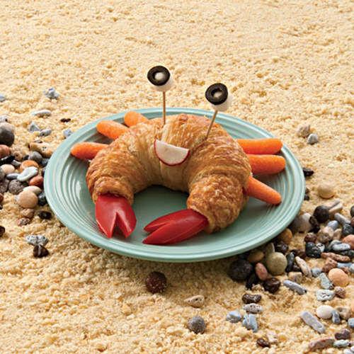Kids food: crab croissant