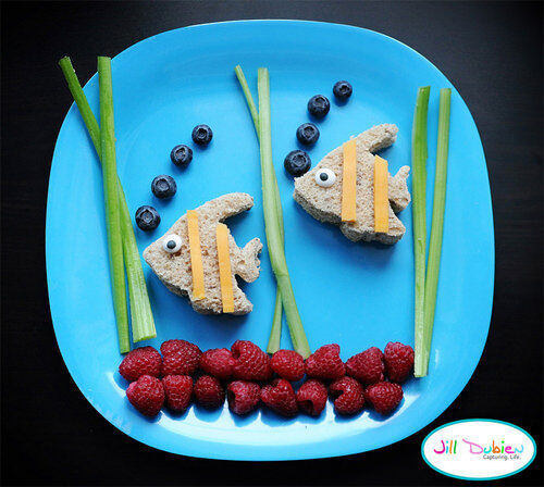 Kids food: aquarium sandwich