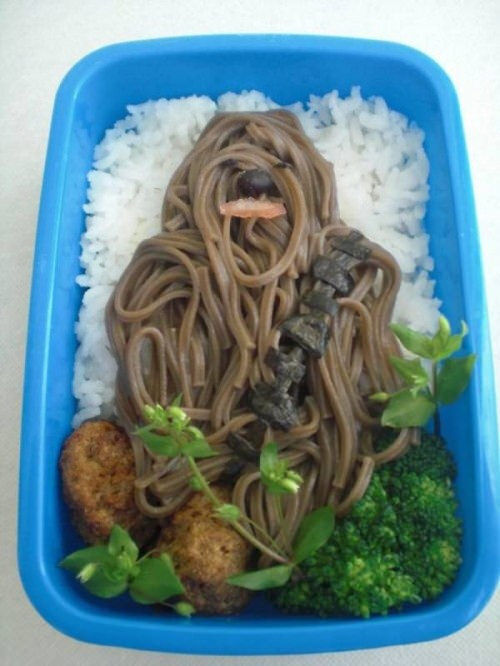 Kids food: noodle Chewbacca
